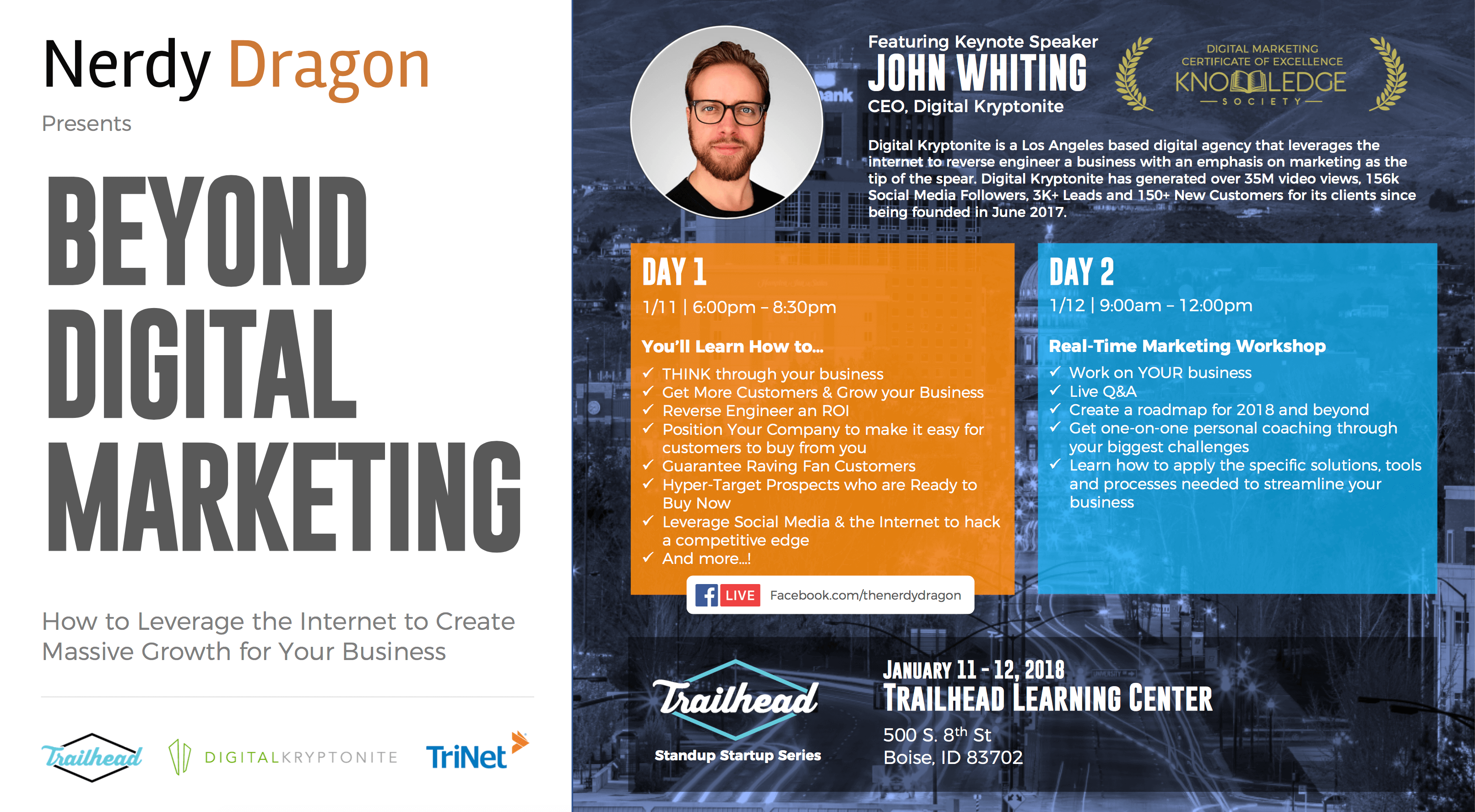 Beyond Digital Marketing - with John Whiting and Nerdy Dragon in Boise