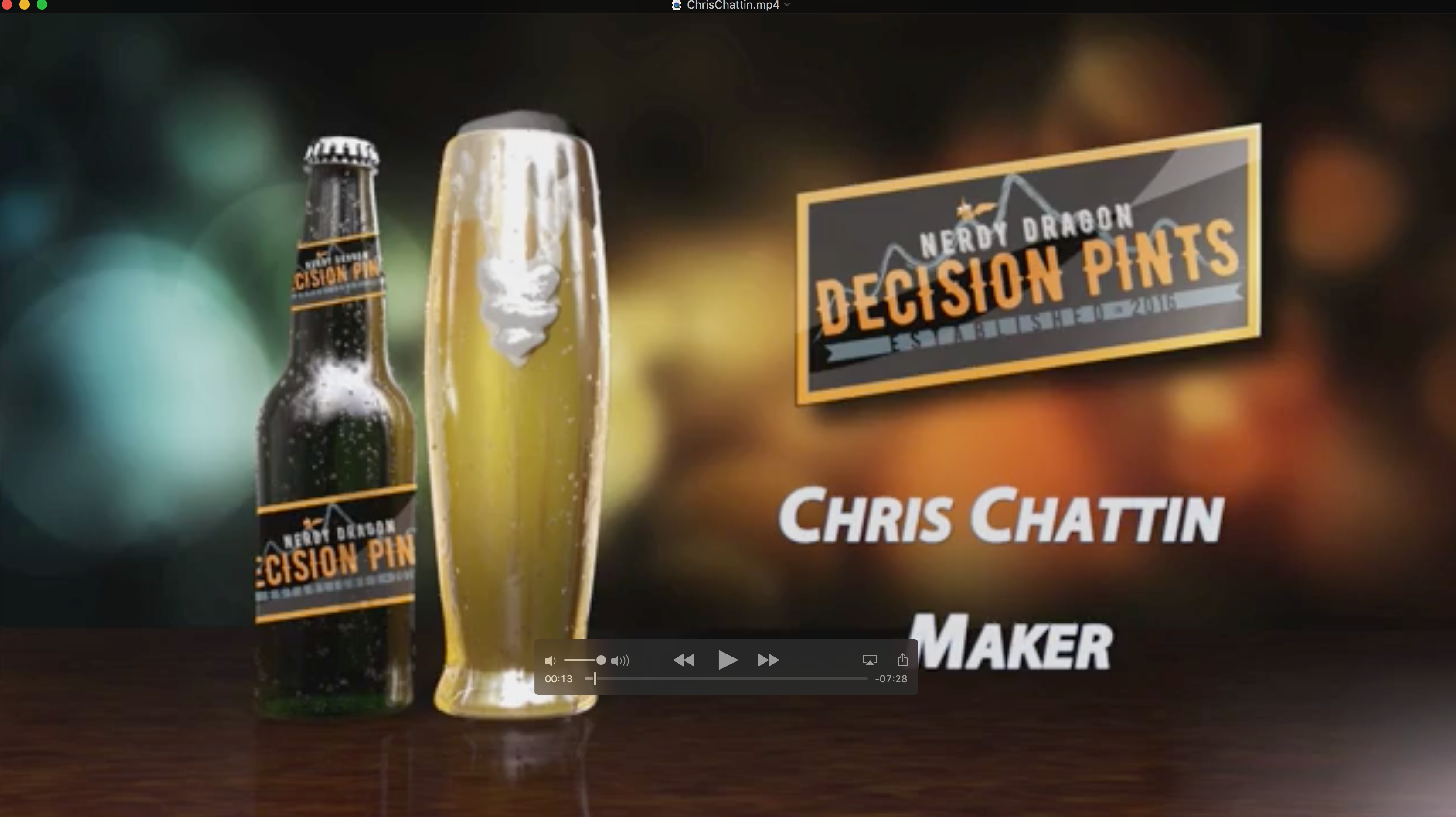 Decision Pints - Chris Chattin